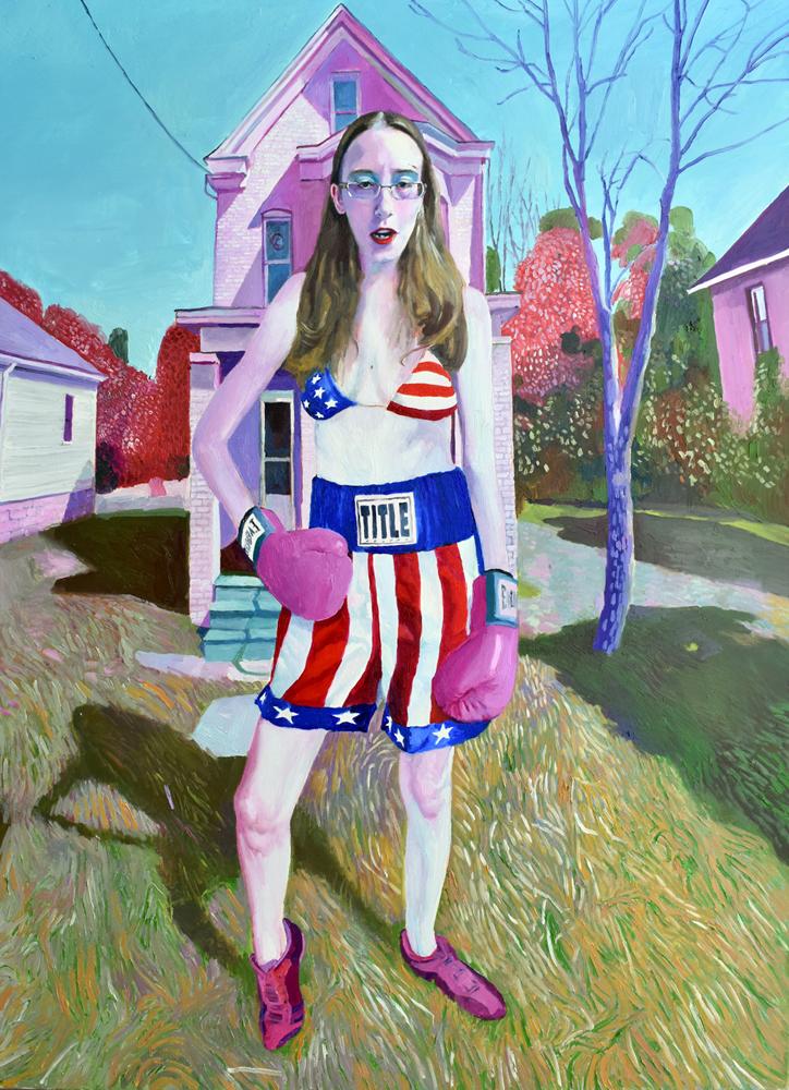 """Hit"" - Oil On Canvas -116 x 89cm"