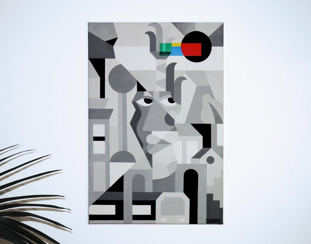 Untitled - Acrylic on Canvas - 54 x 80cm