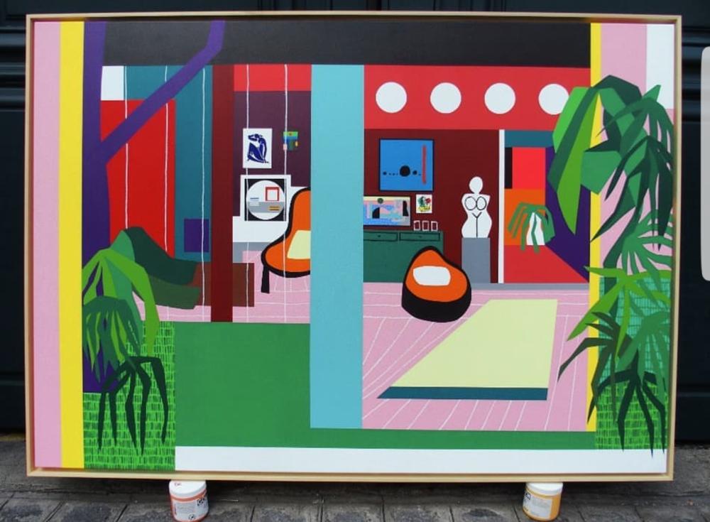 Henri, Joan, Etel, Jean & Fernand - Acrylic on Linen - 162x 114cm