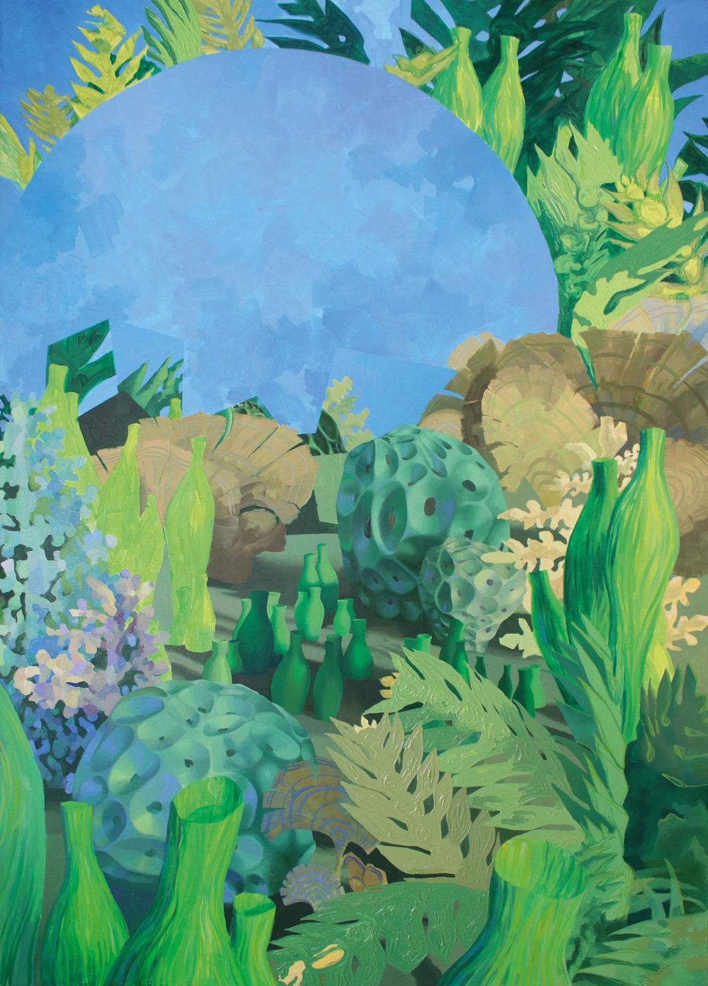 Biotopie  - 2018 - Acrylic, oil and pen on canvas - 120x 170 cm