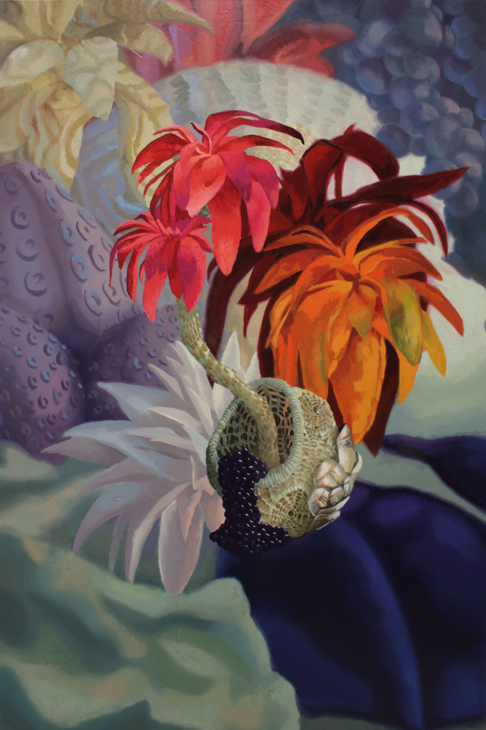 Mandragore's fruits  - 2018 - Oil on canvas-  60 x 100 cm