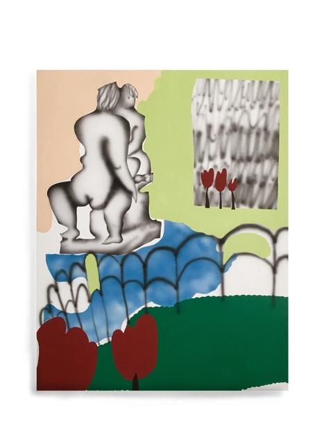 """Rencontre"" - Mixed media on canvas - 73 x 92 cm - 2018"