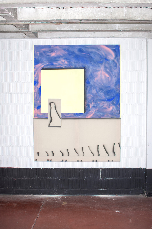Romantic window 1 - Acrylic, oil & spray on canvas -120 x 160 cm - 2018