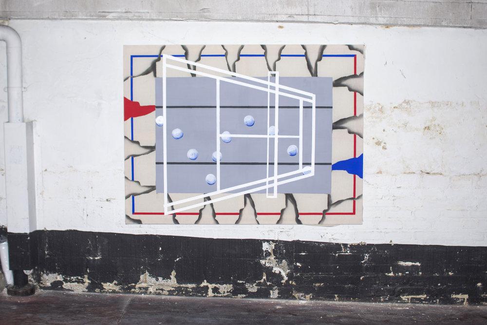 Confort Zone - Acrylic, oil & spray on canvas - 160 x 120 cm - 2018