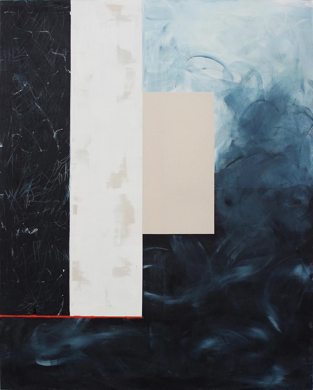Red line - Acrylic, varnish & oil on canvas - 140 x 180 cm - 2019