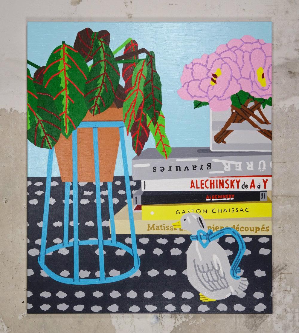 Still Life with duck - Acrylic on Linen - 82 x 98 cm