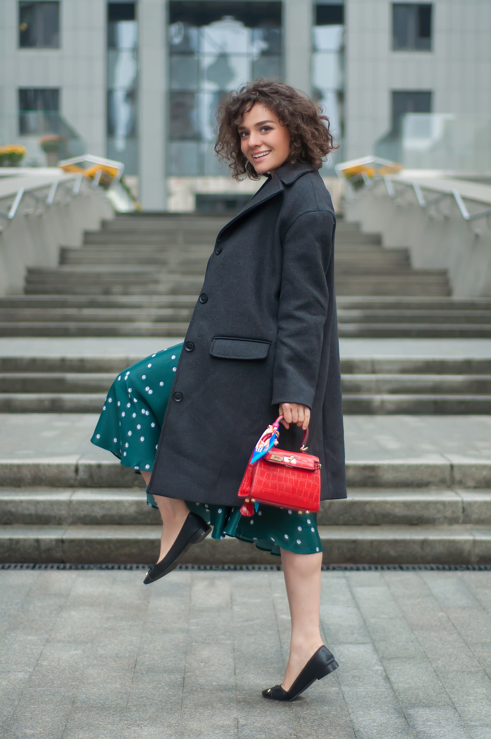 Coat - &other stories | Dress - &other stories | Shoes - Forever21 |