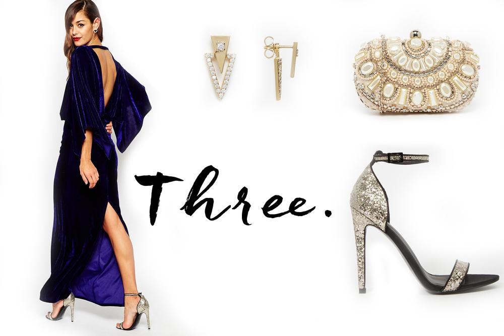 Dress -  ASOS  | Heels -  ASOS  | Earrings -  ASOS  | Clutch -  ASOS