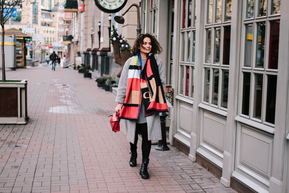 Coat - Zara | Dress - Oksana Pravnyk Atelier | Boots - Fabs | Scarf - Shein | Bag - Hermes