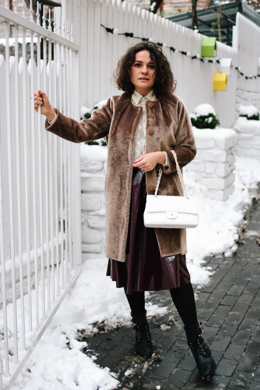 Fur Coat - Via Del Corso 88 | Top -Via Del Corso 88 | Skirt -Via Del Corso 88
