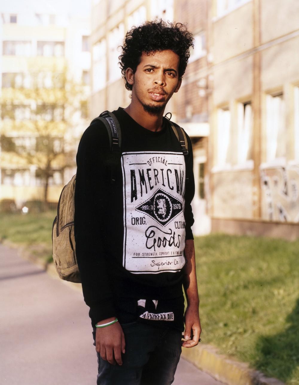 Mensur, from Eritrea, Refugeecamp Berlin - Hellersdorf