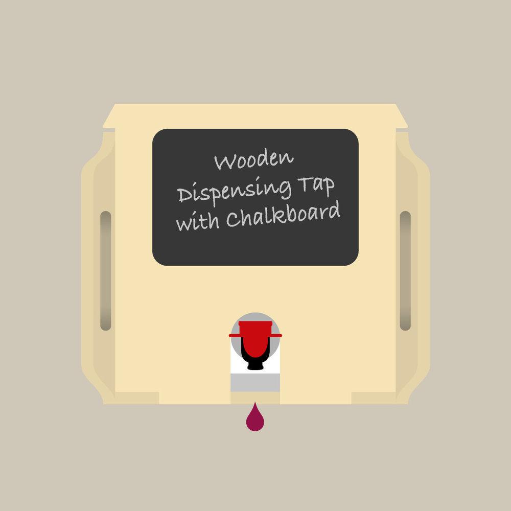 Bag in Box Wine wooden dispensing tap
