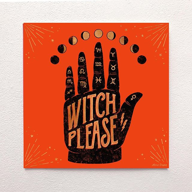 I will be a part of the upcoming '26' show presented by @wemakepdx during Portland Design Week together with legends like @jessicahische, @mrseaves101, @nickmisani @kkade_schwarzmaler, @erikmarinovich and more.  This 'Witch Please' limited addition print will be available for purchase and 100% of the proceeds go towards funding arts education in Portland 🧡