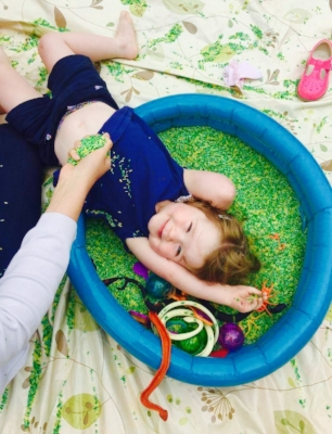 yoga and messy play in Haywards Heath