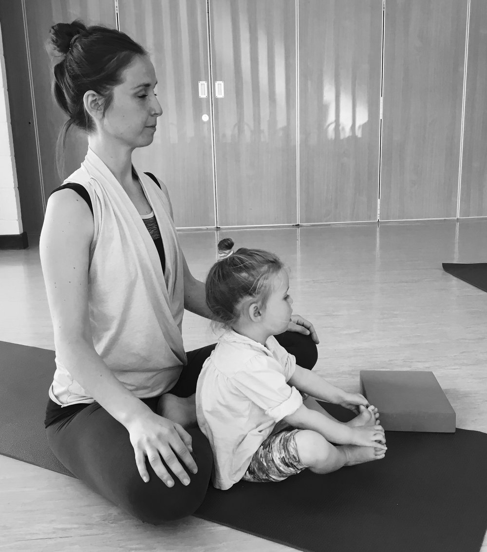 mum and child yoga