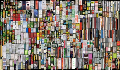 My Things(Book-Keeping)6, Scanned color photograph, 120x205cm
