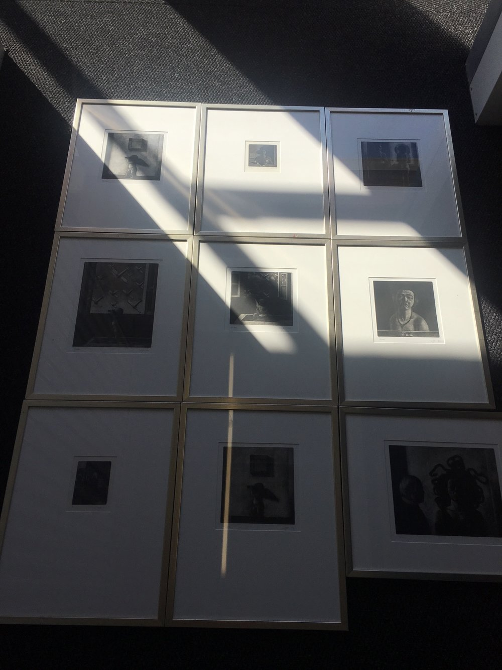 Set of 8 Liu Ye Mezzotint prints, all artist proofs originating from his very first exhibitions in Europe at Taube Gallery