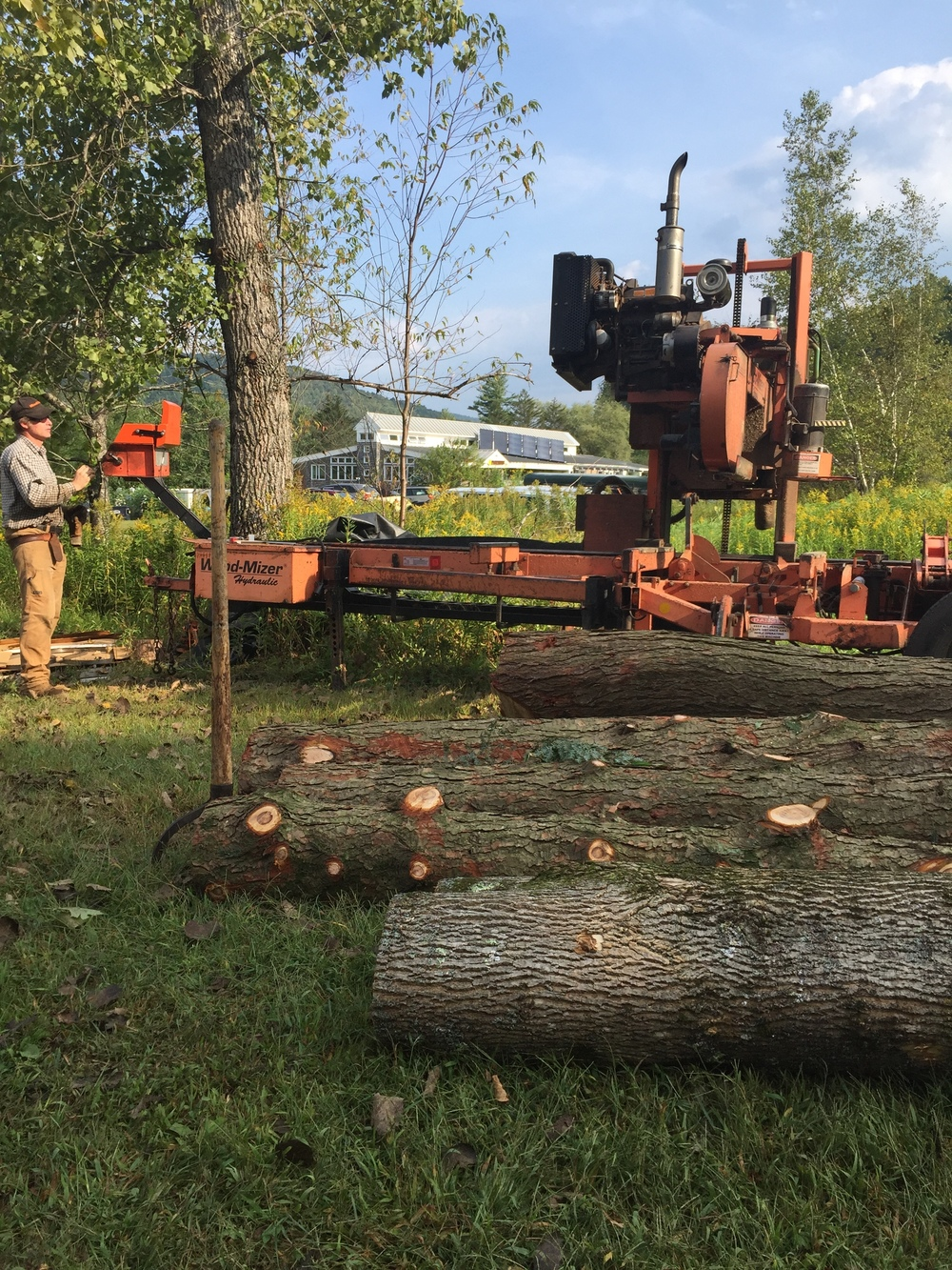 Now the logs are pulled down, it's time to mill them into lumber.