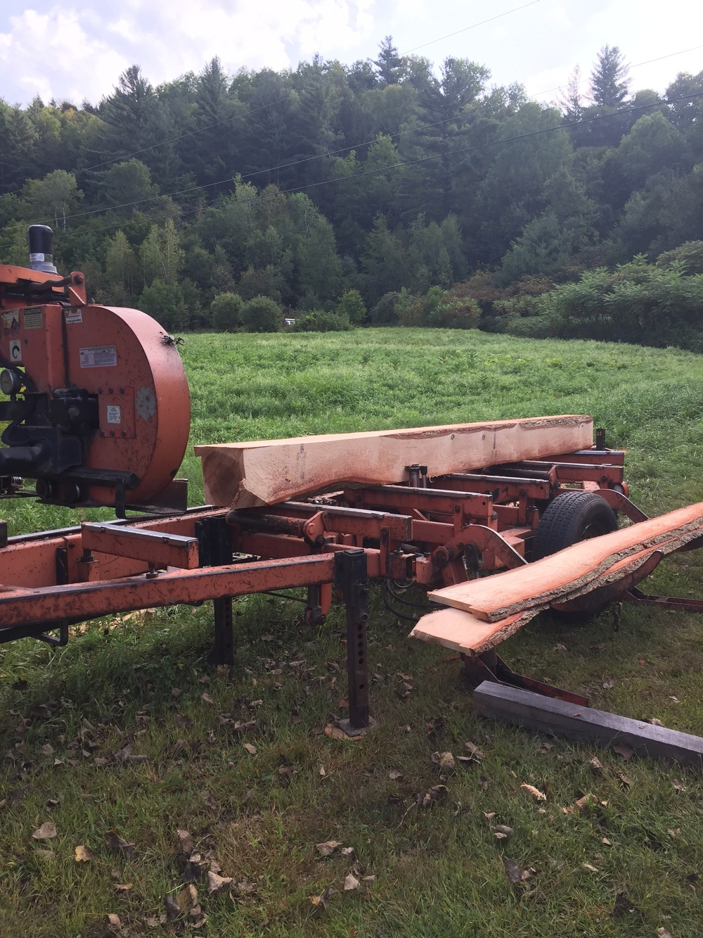 There's several ways to cut a log into lumber.