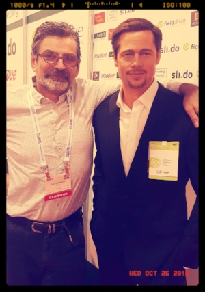 Our CEO, Danny Stevens with Brad Pitt from Madame Tussauds Museum Las Vegas.