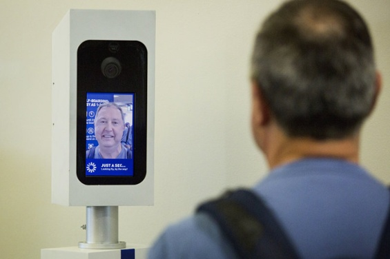 Photo Credit:  NPR     - Robin Lubbock/WBUR – Facial recognition technology used for airport check-in
