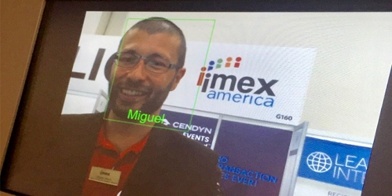 Expo Logic premiered facial recognition badge printing at IMEX America 2017 in Las Vegas, NV.