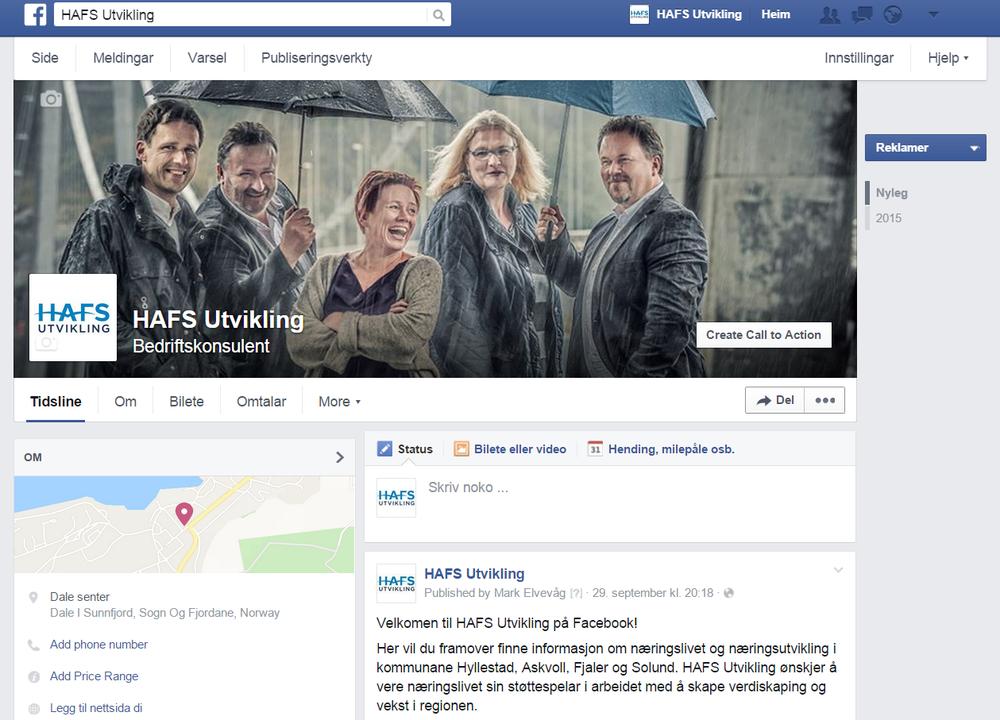 HAFS Utvikling finn du òg på Facebook.