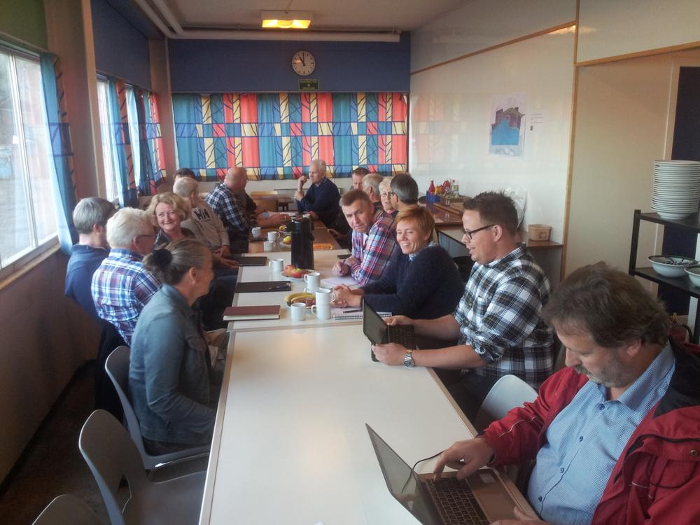 Møte med næringslivet i Solund. Foto: Mark Elvevåg