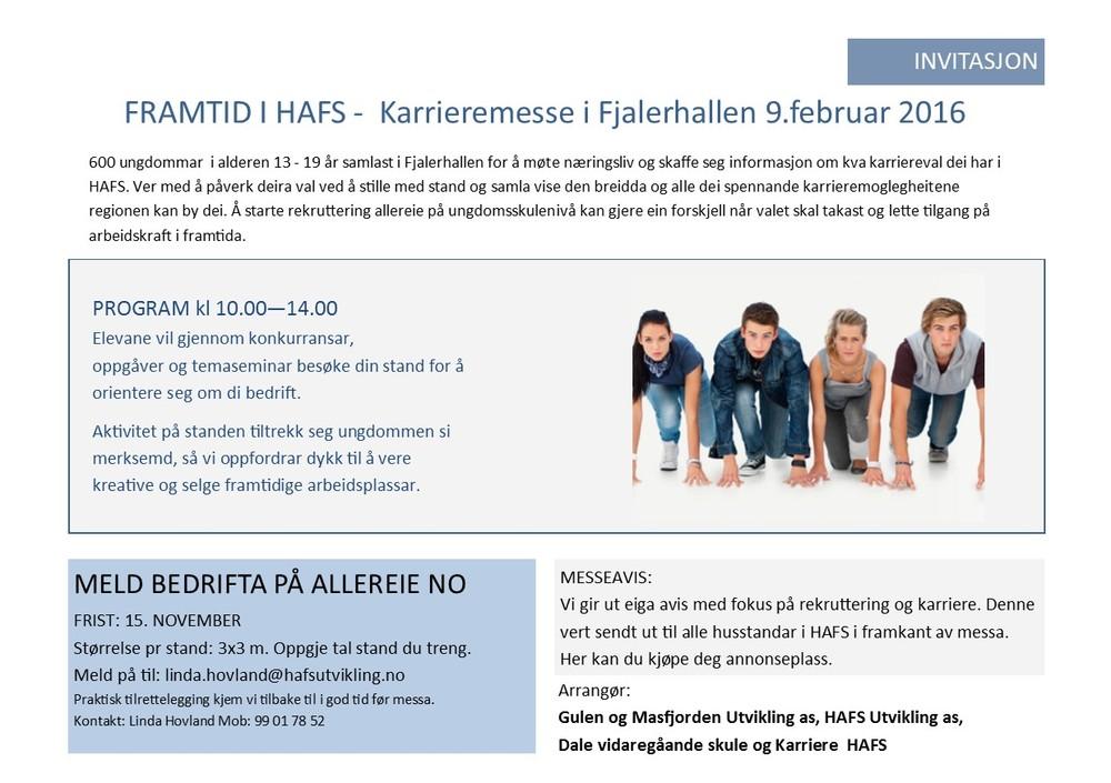 invitasjon karrieremesse i HAFS 2016
