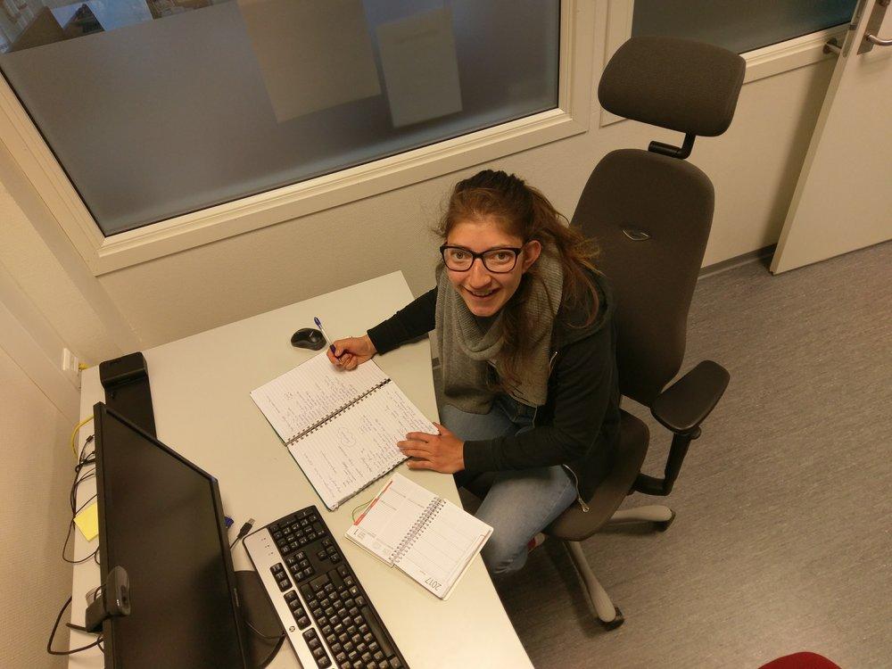 Ingvild Kjøsnes på kontoret