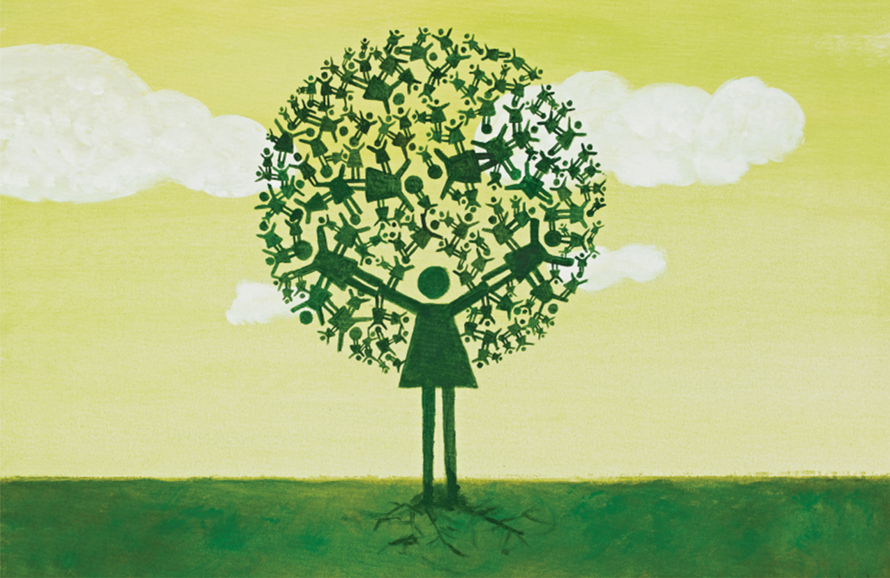 family tree image from cover of 2013 AR