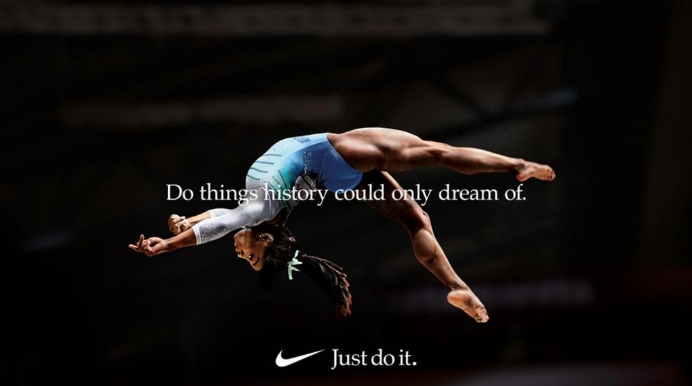 Kuvakaappaus Niken kampanjaan liittyvästä mainoksesta.