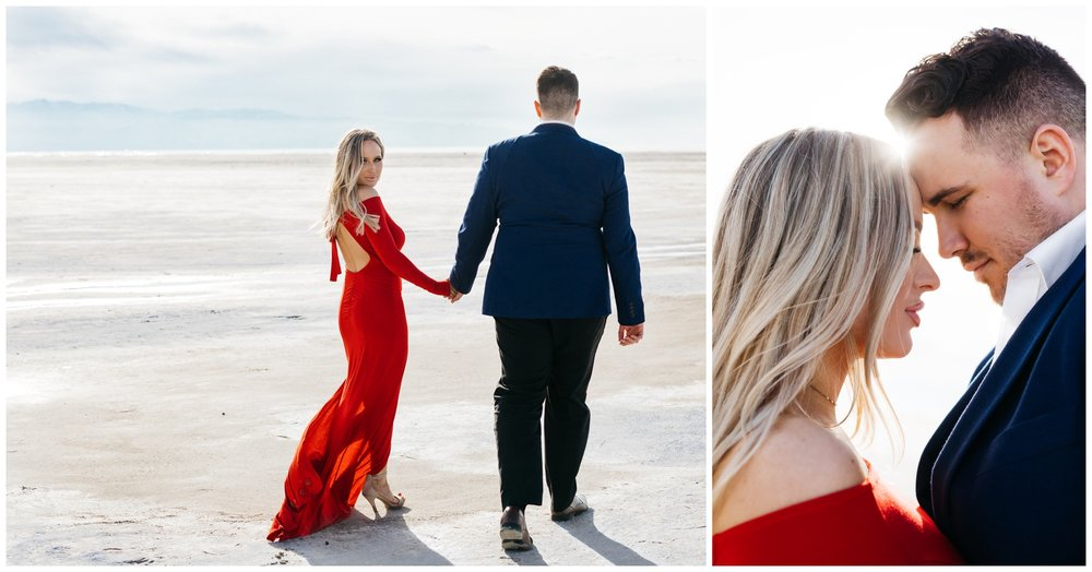 Utah Salt Flats Desert Engagement