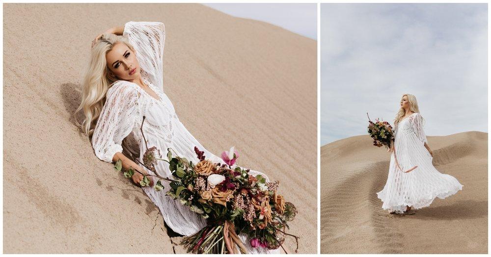 Bridal Portraits Sand Dunes Utah