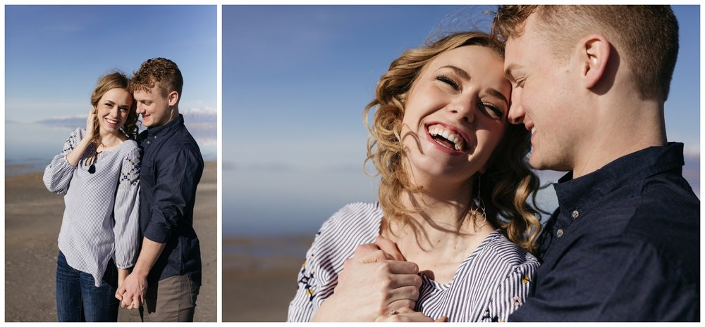 Engagement Portraits at Antelope Island