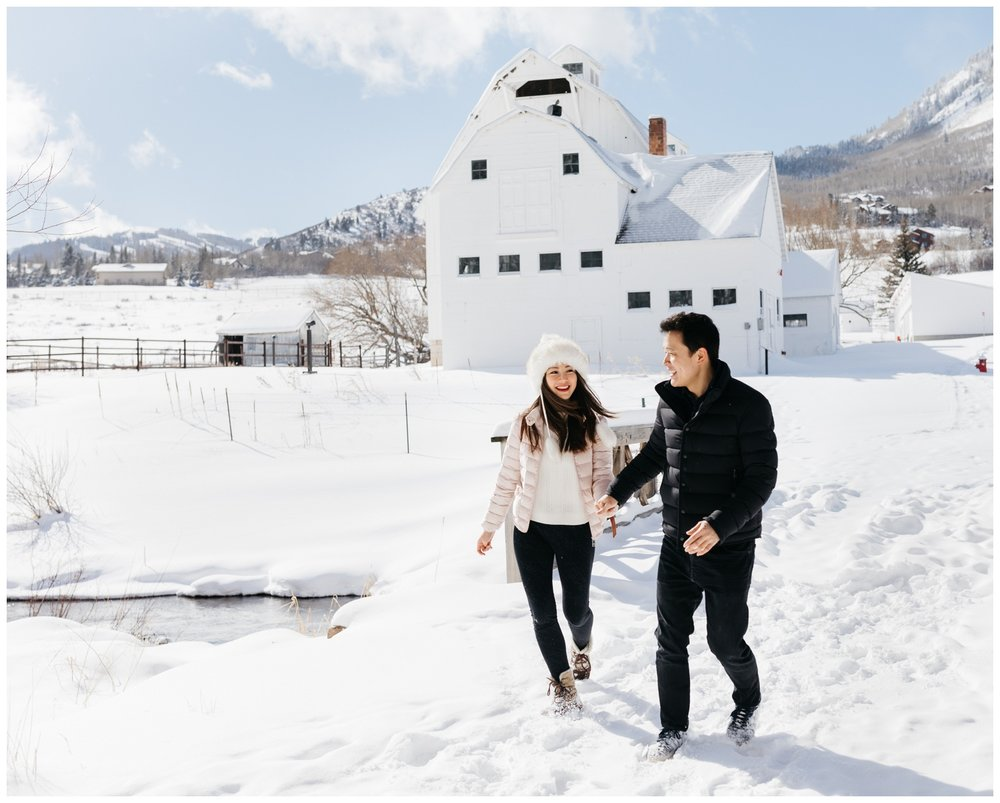 Winter Utah Engagement Portraits