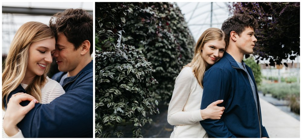 Greenhouse engagement session ideas