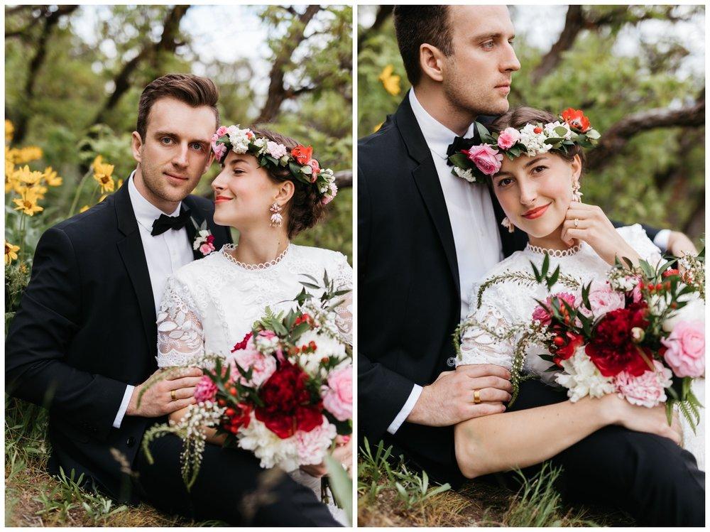 spring utah wedding photos