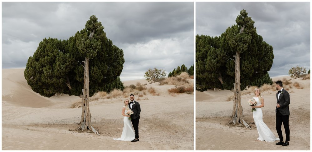 little sahara sand dunes wedding portraits utah