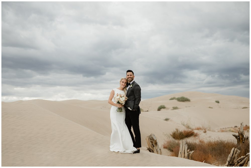 sand dunes bridal portraits wedding photographer in utah