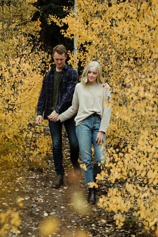 autumn engagement in utah salt lake city