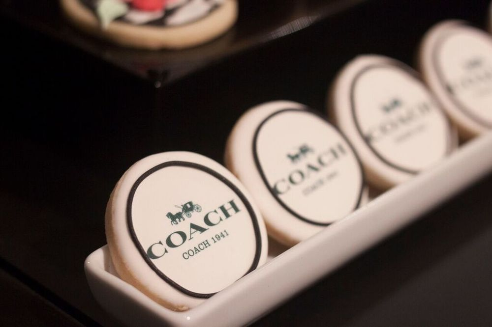 Customized printed cookies by Bobbette & Belle.