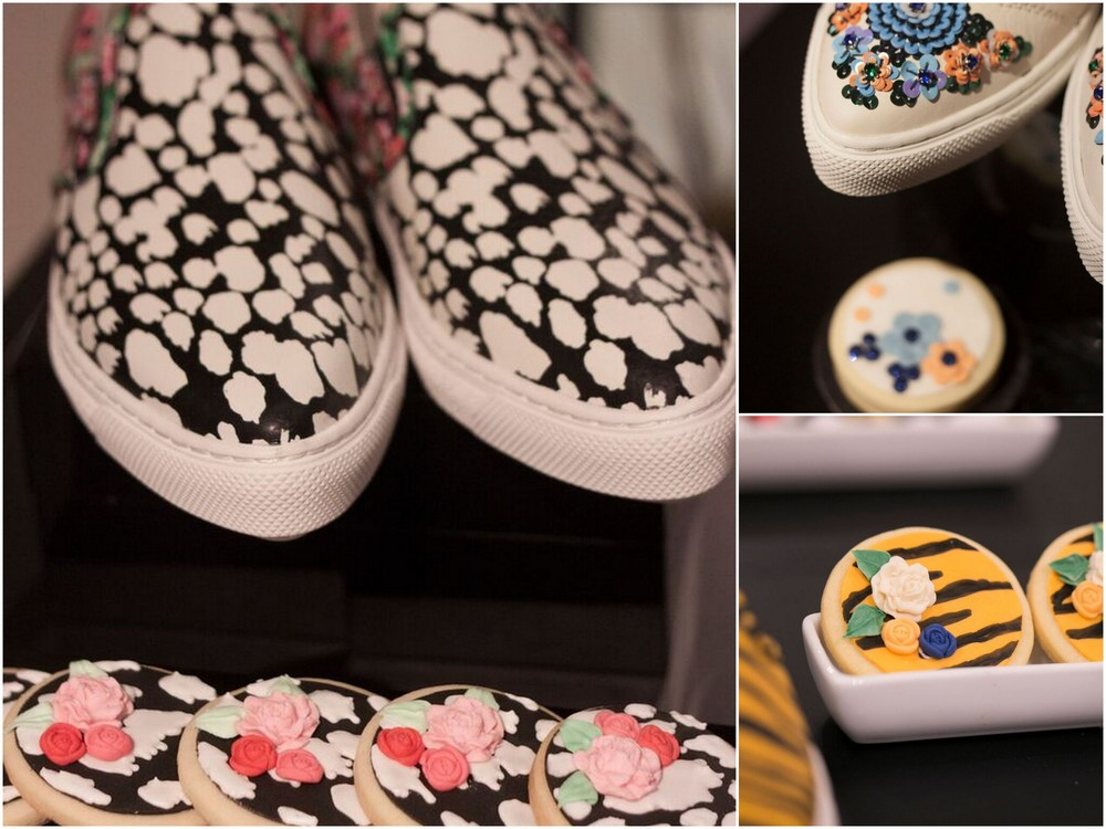 How cool are these cookies by Truffle Cake Pastry to match the design of the Spring shoe collection. .