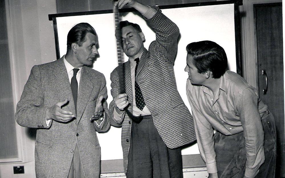 Heinz Sielmann, Desmond Hawkins and TS