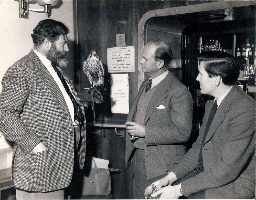 James Robertson Justice, Peter Scott, TS in the BBC Bristol club.