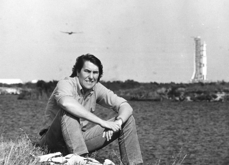 Cape Canaveral, waiting for Apollo 15 to blast off