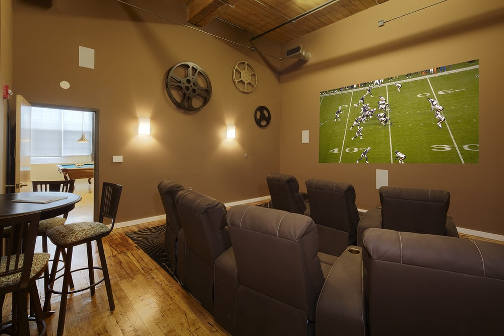 Amenities Private Screening Room Lawrence Apartments to Rent