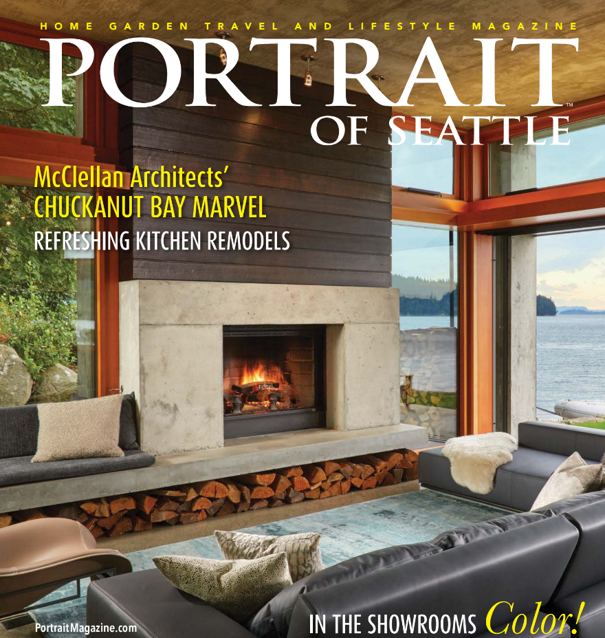 Bay House featured on the cover of Portrait of Seattle Magazine's January 2017 issue
