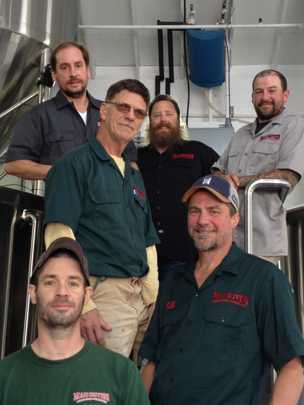 Brewers as pictured (back left to right) Kevin Montgomery, Dylan Schatz, David Cook (middle left) Zeke Branca (middle right) Brian Brodkorb (front) Jon Cox