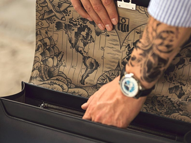 Montblanc Secret Adornment Montblanc renewed its collaboration with Mo Coppoletta. Three different Secret Adornment creations have been hand tattooed by the artist, all inspired by Montblanc's 110th year heritage. LEARN MORE..
